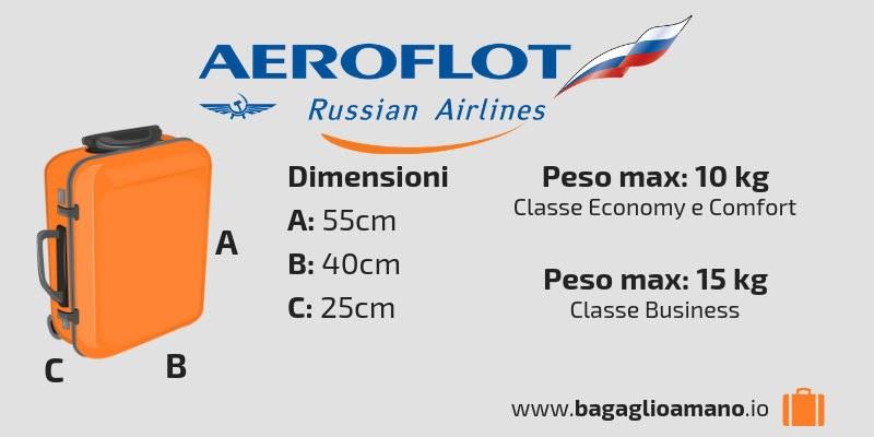 Bagaglio a mano Aeroflot